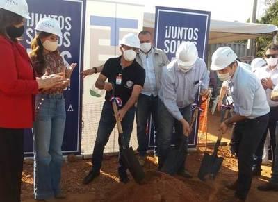Realizan palada inicial de pabellón respiratorio, cuya construcción culminará en 30 días