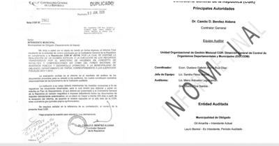 Ejercicio Fiscal 2014/15: Contraloría solicita documentos a la Municipalidad de Obligado