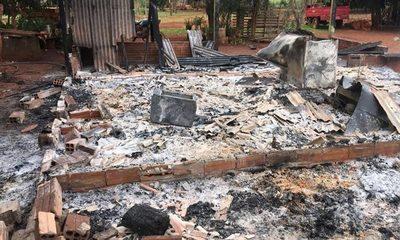 Fuego consume vivienda en Minga Porã