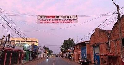 """""""Tener COVID-19 no es un delito"""": con pasacalles en Caaguazú piden no discriminar"""