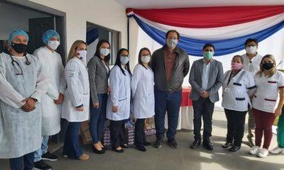 Inauguran pabellón de Urgencias en el Centro de Salud de Juan E. O'leary e incorporan recursos humanos