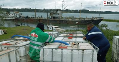 Inician tareas de desagote del buque varado en Campichuelo