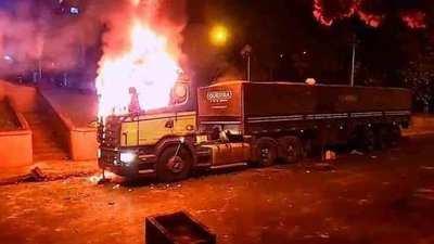 Camioneros piden cese de la inseguridad y culpan al Gobierno por daños durante violenta protesta