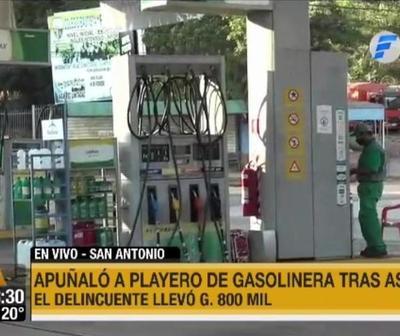 Tras asalto apuñaló a playero de gasolinera en San Antonio