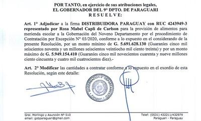 Baruja adjudicó millonario llamado a empresa a la que el mismo rescindió contrato